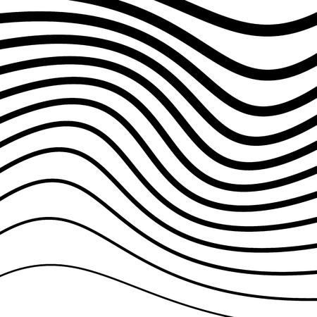 Simple pattern with irregular, wavy - billowy lines. Monochrome minimalist illustration.
