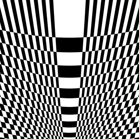 amorphous: Checkered pattern with warp, distortion. abstract geometric illustration Illustration