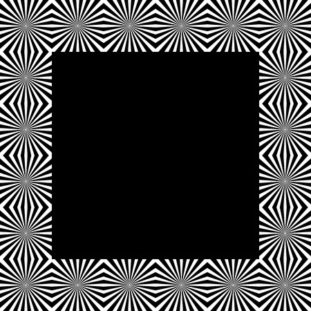 patter: Patter with mosaic of radiating lines. Monochrome background