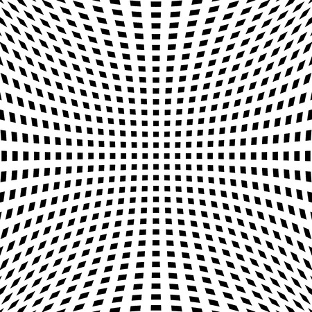 misshapen: Grid, mesh pattern with distortion. Abstract geometric pattern. Illustration