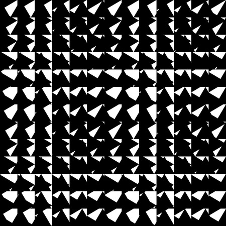 irregular shapes: Chaotic, irregular repeatable geometric pattern. Mosaic of asymmetric shapes. Monochrome abstract background.