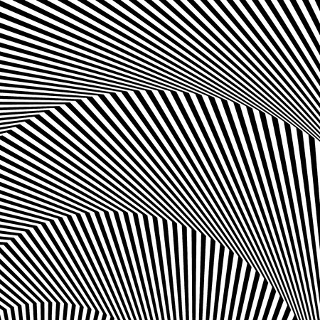 Wavy, zigzag lines, lines with distortion, crease. Monochrome pattern Imagens - 58892863