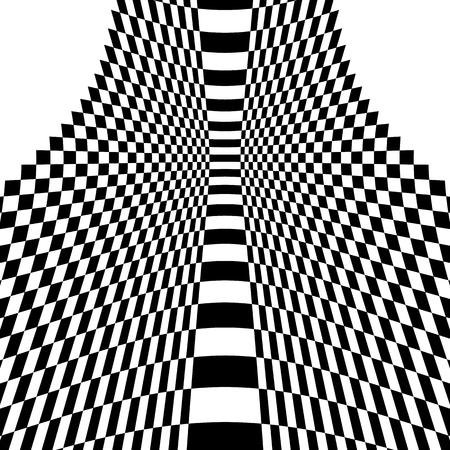 warp: Checkered pattern with warp, distortion. abstract geometric illustration Illustration