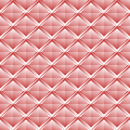 Repeatable pattern with crystal like structure. Mosaic of studs, shaded squares