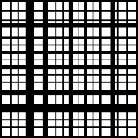 intersecting: Grid, mesh of intersecting lines. Abstract monochrome background, seamlessly repeatable pattern. Irregular, random lines pattern.