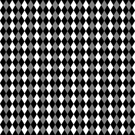 contrasty: Repeatable contrasty geometric pattern. Mosaic of triangles within squares Illustration