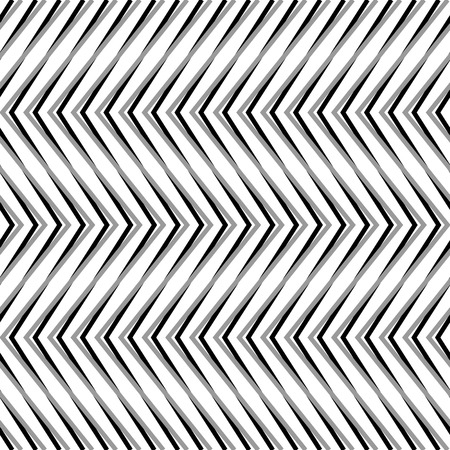 reticular: Zigzag, corrugated, serrated lines. Dynamic, irregular stripes. Geometric repeatable abstract monochrome pattern
