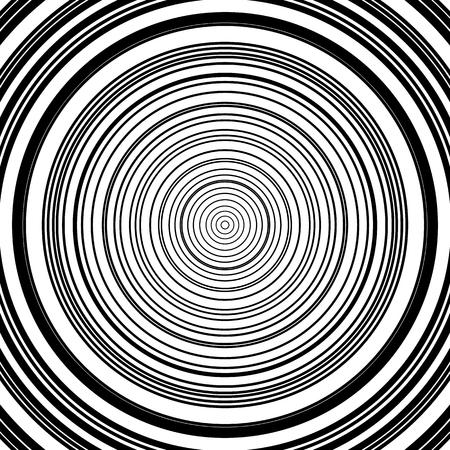 circulos concentricos: patr�n de c�rculos conc�ntricos. Ilustraci�n abstracta monocrom�tica-geom�trico. Vectores