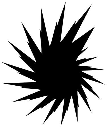 revolve: Geometric circular spiral. Abstract angular, edgy shape in rotating fashion Illustration