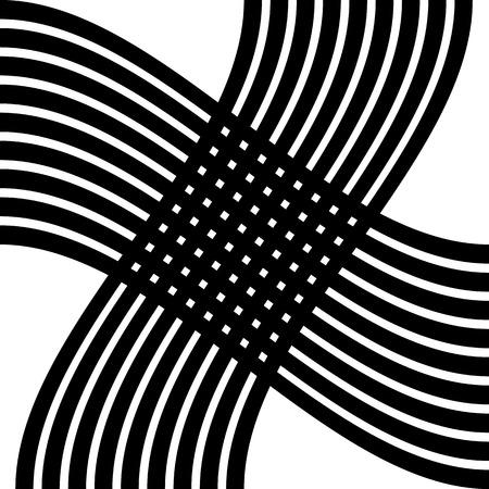 distortion: Grid, mesh distortion. Deformed intersecting lines. Geometric pattern  element.
