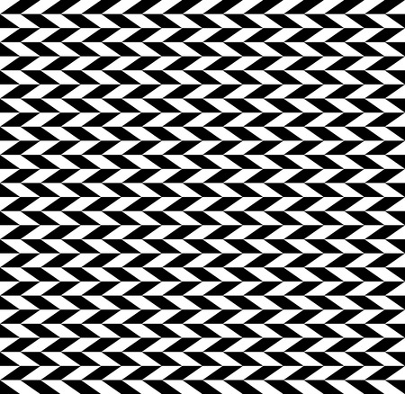 skew: Checkered seamless pattern with alternating parallelogram. Optical illusion, contrasty background