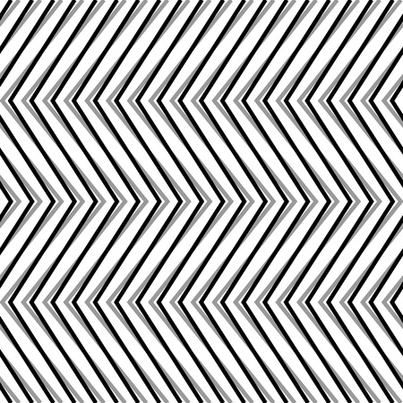 strain: Zigzag, corrugated, serrated lines. Dynamic, irregular stripes. Geometric repeatable abstract monochrome pattern