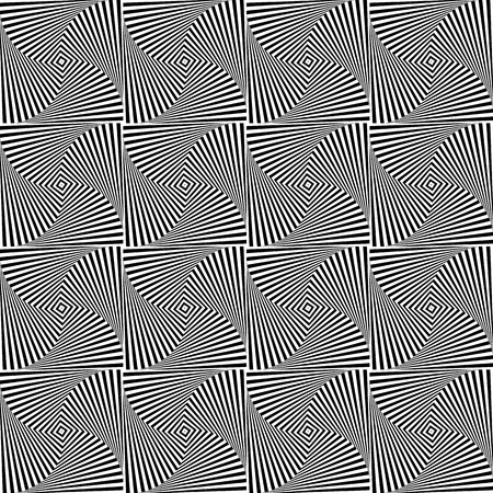 repeatable: Rotating squares repeatable abstract pattern. Monochrome texture