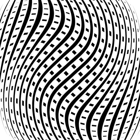 amorphous: Grid, mesh pattern with distortion. Abstract geometric pattern. Illustration
