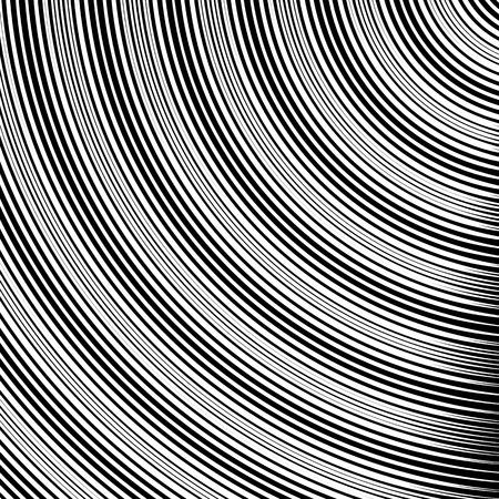 converging: Circle pattern with dynamic, irregular lines. Geometric circular pattern with radiating, converging circles. Illustration