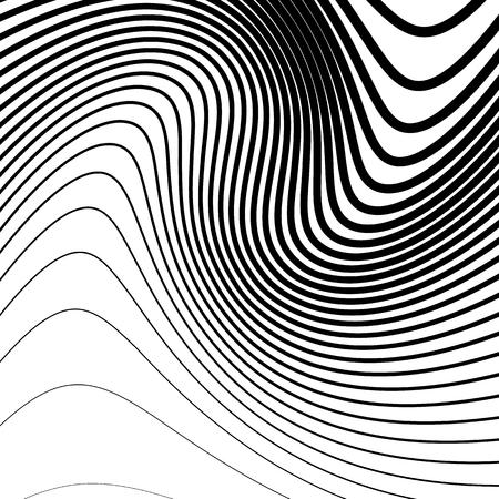 billowy: Simple pattern with irregular, wavy - billowy lines. Monochrome minimalist illustration.