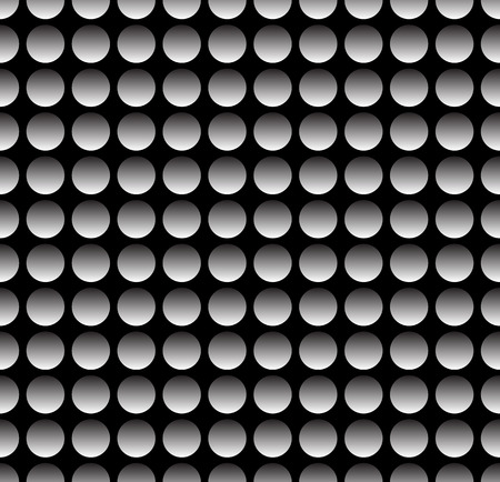 metal sheet: Simple industrial perforated surface pattern template. Carbon, metal sheet (Repeatable) Illustration