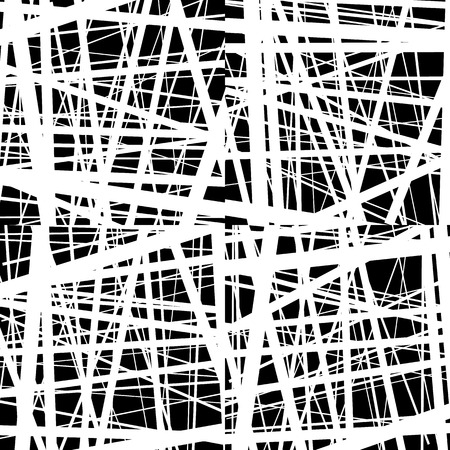 harsh: Abstract irregular straight lines pattern. Set of 4 version. Geometric monochrome backgrounds.