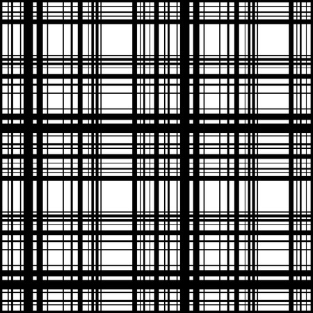 Grid, mesh of intersecting lines. Abstract monochrome background, seamlessly repeatable pattern. Irregular, random lines pattern.