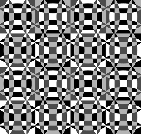 eyestrain: Grayscale, monochrome mosaic texture, seamlessly repeatable pattern. Illustration