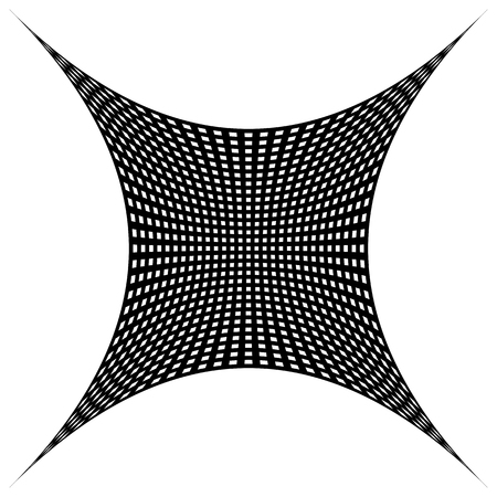 distortion: Grid, mesh pattern with distortion. Abstract geometric pattern. Illustration