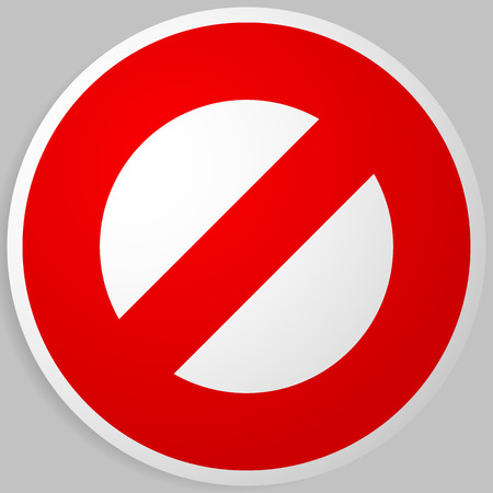 do not enter: Prohibition, restriction. Red strike-through road signs. Red do not entry, no entrance, keep out sign, icon