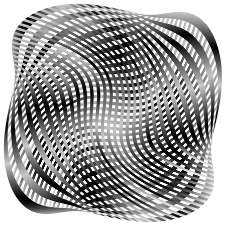 Grid, mesh pattern with distortion. Abstract geometric pattern. Illustration