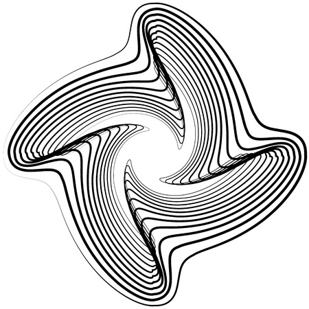 irregular: Abstract circular element. Monochrome geometric illustration in irregular, asymmetric fashion.