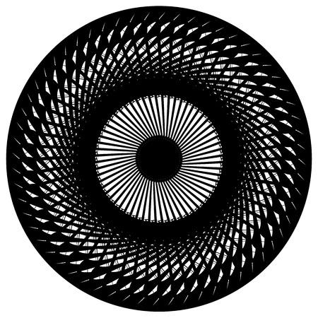 irregular: Abstract geometric circular element. Radiating irregular shape. Illustration