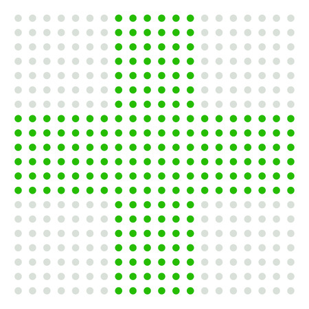 firstaid: Dotted cross sign for medical, healthcare, first-aid concepts