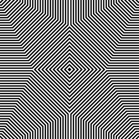 eyestrain: Repeatable geometric pattern. Abstract monochrome angular background.