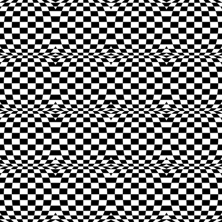 distort: Checkered pattern(s) with distortion, deformation effect. Repeatable.