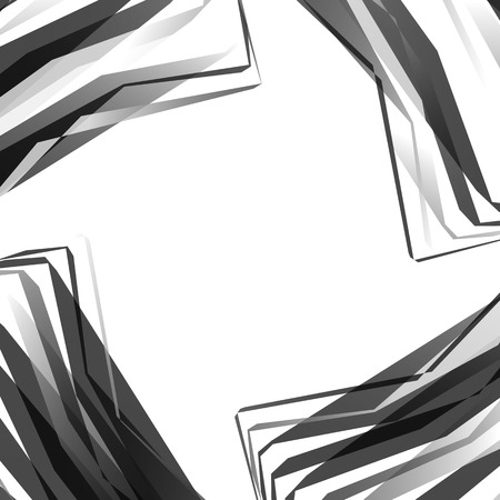 angular: Edgy, angular monochrome geometric element. Abstract graphics. Illustration