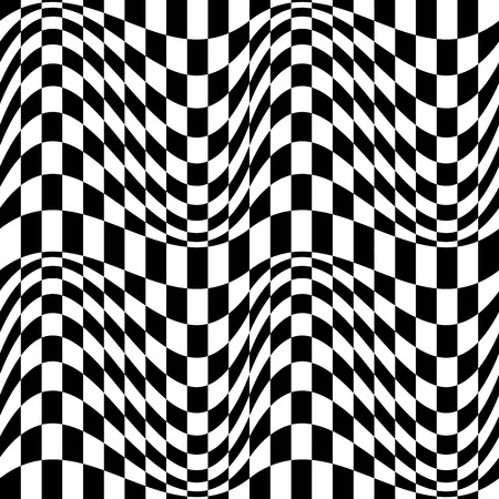 tweak: Checkered pattern(s) with distortion, deformation effect. Repeatable.