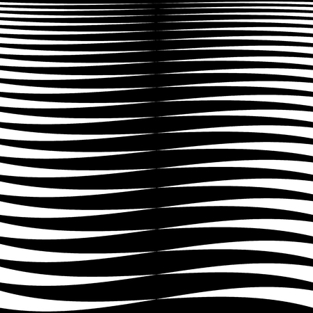 strain: Horizontal lines, stripes - Waving, wavy lines from thick to thin in sequence. abstract monochrome, grayscale geometric pattern, texture.
