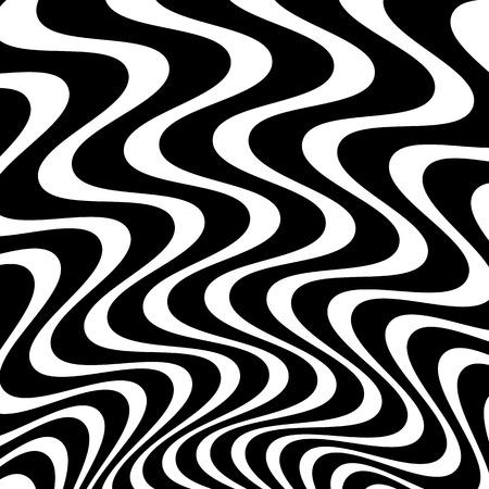 tweak: Wavy, waving - zigzag radial lines. Abstract monochrome background