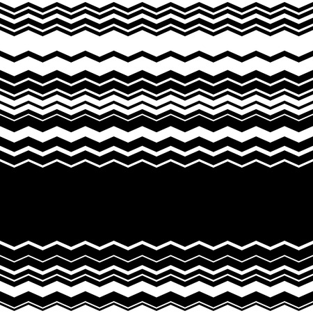 billow: Wavy, zig-zag horizontal parallel lines. Abstract monochrome seamlessly repeatable pattern