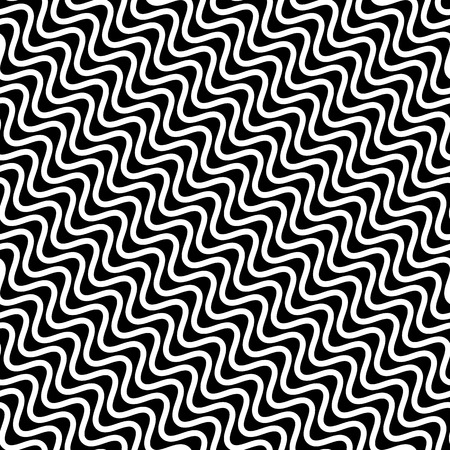 billow: Wavy diagonal parallel lines. seamless, repeatable monochrome pattern