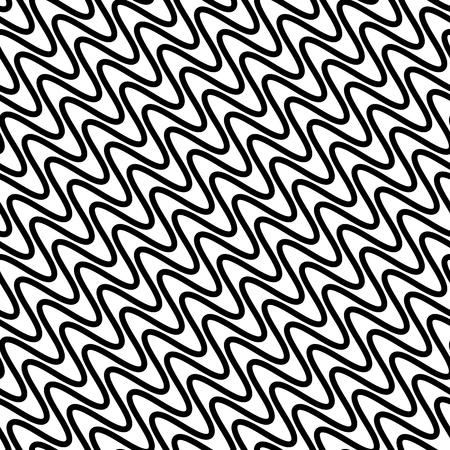 stripes seamless: Wavy diagonal parallel lines. seamless, repeatable monochrome pattern