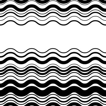 lineas horizontales: Ondulado, en zigzag líneas paralelas horizontales. Resumen modelo monocromático perfectamente repetible