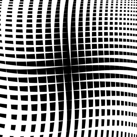 billow: Rippled grid, mesh - Intersecting lines texture, abstract monochrome geometric pattern.