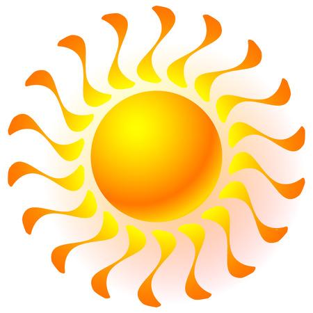 solarium: Sun clip-art with transparent glow effect. Sun shine, weather, tanning, sun bathing concepts. Illustration