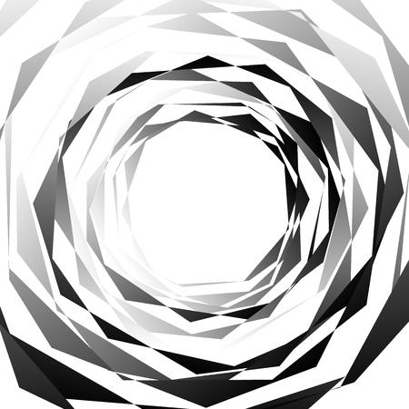 amorphous: Edgy, angular monochrome geometric element. Abstract graphics. Illustration