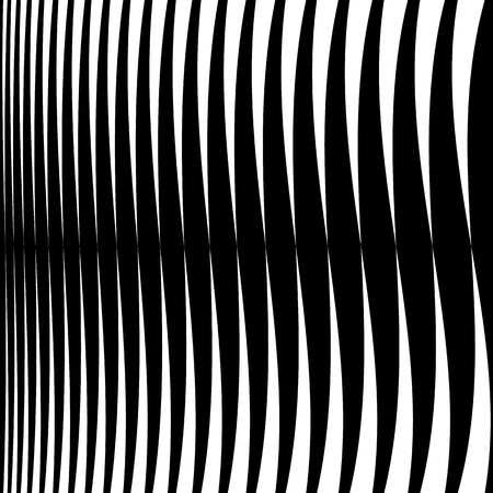 thick: Horizontal lines, stripes - Waving, wavy lines from thick to thin in sequence. abstract monochrome, grayscale geometric pattern, texture.