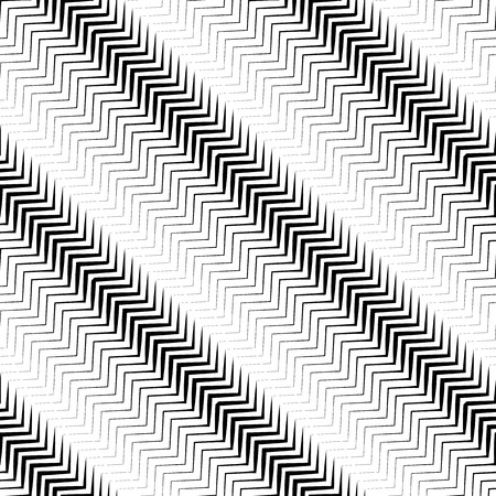 billow: Wavy diagonal parallel lines. seamless, repeatable monochrome pattern.