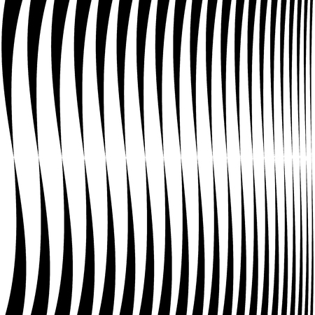 sequence: Horizontal lines, stripes - Waving, wavy lines from thick to thin in sequence. abstract monochrome, grayscale geometric pattern, texture.