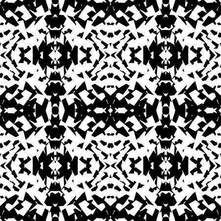 mirrored: Mirrored geometric pattern. Repeatable monochrome abstract background.