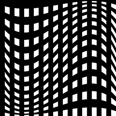 intersecting: Abstract geometric monochrome graphics with intersecting lines Illustration