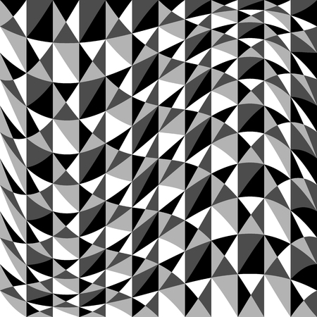 warp: Abstract background, pattern with warp effect. Black and white, grayscale geometric texture with distortion