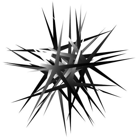 random: Edgy, pointed random overlapping shapes. Abstract art. Illustration